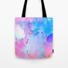 Abstract Candy Glitch - Pink, Blue and Ultra violet #abstractart #glitch Tote Bag