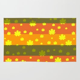 Golden autumn leaves Rug