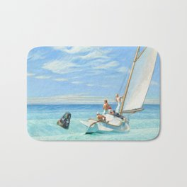 Ground Swell OIl Painting by Edward Hopper Bath Mat