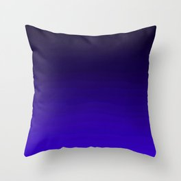 Deep Dark Indigo Ombre Throw Pillow