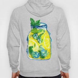 Watercolor - Iced Lemon Mint Tea Hoody