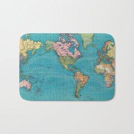 Vintage Map of The World (1897) Bath Mat
