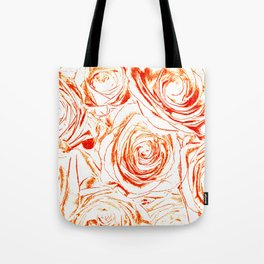 Roses // Wedding Flowers, Abtract Minimalist Art Tote Bag