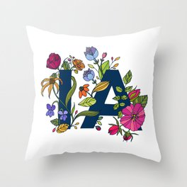 Iowa Flowers Throw Pillow