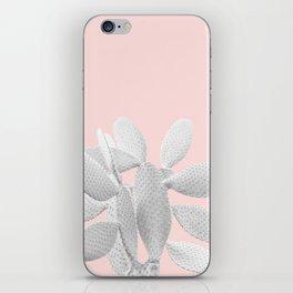White Blush Cacti Vibes #1 #plant #decor #art #society6 iPhone Skin