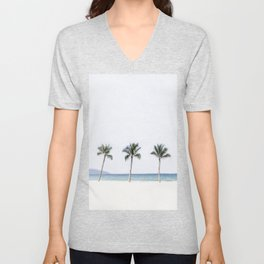 Palm trees 6 Unisex V-Neck