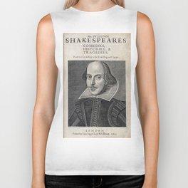 William Shakespeare Portrait Biker Tank
