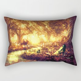 Ashitaka and the Tree Spirits Rectangular Pillow