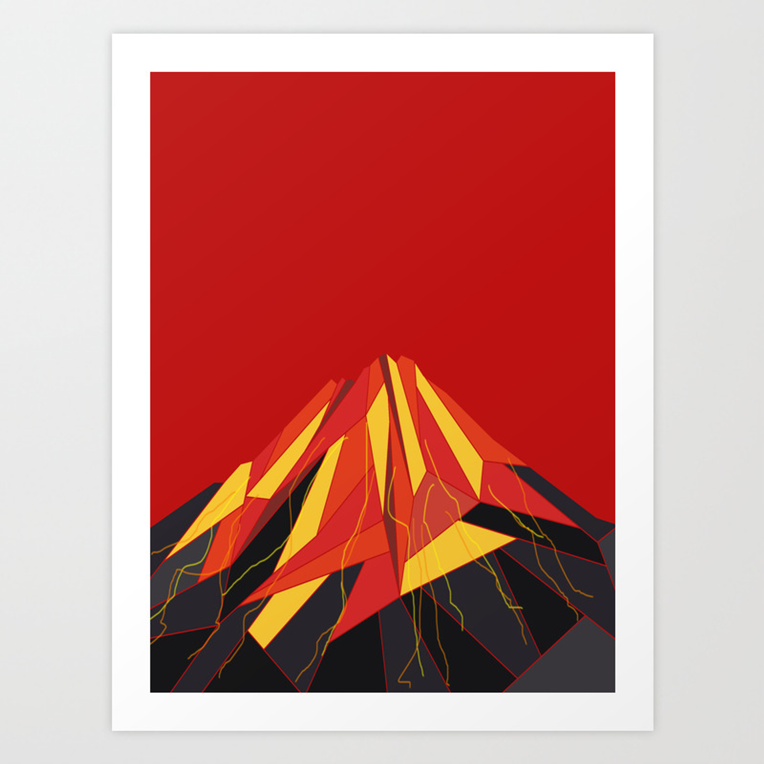 Volcano Art Print By Absentisdesigns Society6