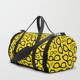 Smart Glasses Pattern - Black and Yellow Duffle Bag