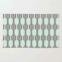 Grey and Mint Geometric Lines. Manchester Architecture Collection Rug