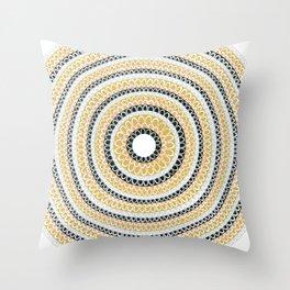 Gold, Silver & Bronze Throw Pillow