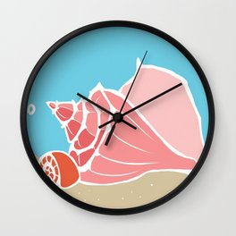 Conch Shells Wall Clock
