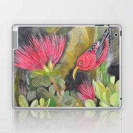 'Iwi'i and Maui 'Alauhio in Red Ohia Lehua Tree Laptop & iPad Skin