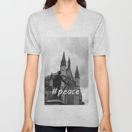 Soldier and cathedral Unisex V-Neck