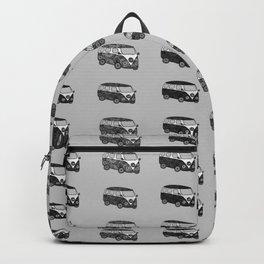 Grey camper pattern Backpack