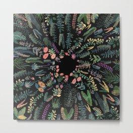 Drak circular garden Metal Print