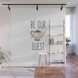 Be our Guest Hand painted teapot hand print Wall Mural