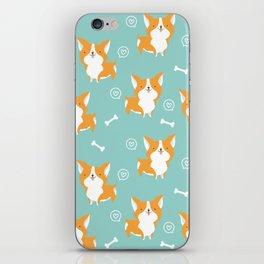 Sweet corgis pattern iPhone Skin