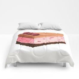 Raspberry Ice Cream Cake Slice Comforters