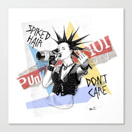 Punk 101: Spiked Hair Don't Care Canvas Print