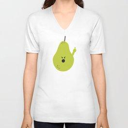 Vulgar Fruit: Profane Pear Unisex V-Neck