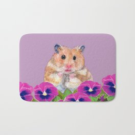 Cute Little Hamster Bath Mat