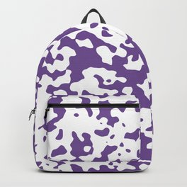 Spots - White and Dark Lavender Violet Backpack
