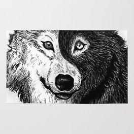 Ying Yang Wolf Rug