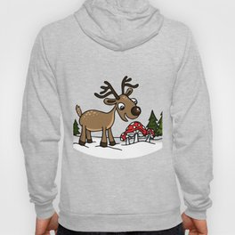 Reindeer Munches Magic Mushrooms Hoody