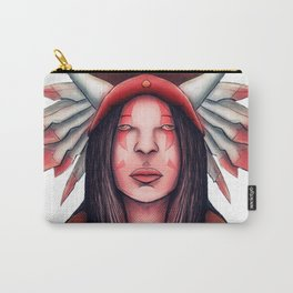 The Indian Crown Of Horns And Feathers Carry-All Pouch
