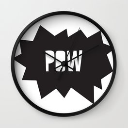 Pow pow Wall Clock