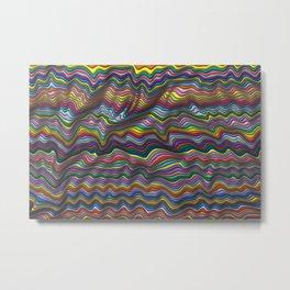 Wrinkled Metal Print