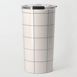 windowpane plaid Travel Mug