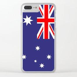 Flag of Australia Clear iPhone Case
