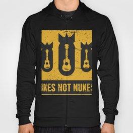 Ukes Not Nukes | Ukulele Fallout Sign Hoody