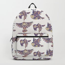 Owls in Flight – Mauve Palette Backpack