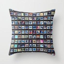 128 Sexy Polaroids in Negative Throw Pillow