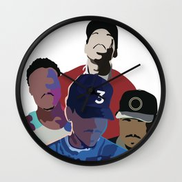 Chance the Rapper - Coloring Book, Acid Rap, 10 Day, SOX Wall Clock