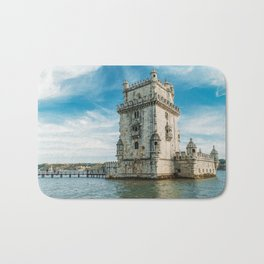 Belem Tower of Saint Vincent In Lisbon, Wall Art Print, Historic Architecture Art, Poster Decor Bath Mat