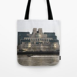 SIS Secret Service Building London And Rib Boat Tote Bag
