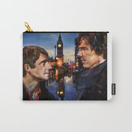 Sherlock and John in London Carry-All Pouch