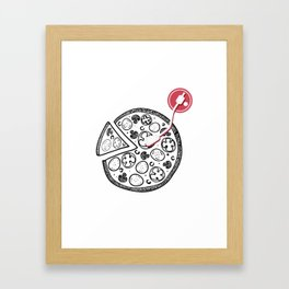 Cheesy Music Framed Art Print