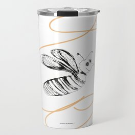Crazy Bee drawing illustration for kds Travel Mug
