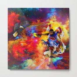 Dance with eagle Metal Print