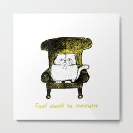 Food should be Imminent (Yellow) Metal Print