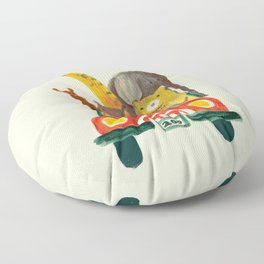 Visit the zoo Floor Pillow