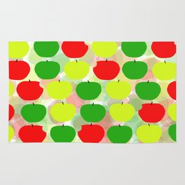 Summer Apple Picking Green, Red and Yellow Rug