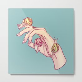 Hand Study No.1 // The Snails One Metal Print