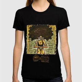 2014 Black Girl Yo Hair Is A Revolution art by Marcellous Lovelace T-shirt